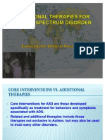 Additional Therapies for Autism Spectrum Disorder