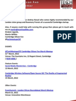Cambridge Silicon Fen Weekly Newsletter 09-March-2012