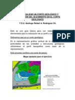 COMO REALIZAR UN CORTE GEOLÓGICO Y CORRECCIÓN DEL BUZAMIENTO EN EL CORTE GEOLOGICO