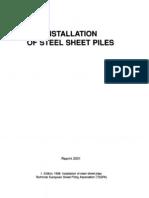 Sheet Piles Installation Manual
