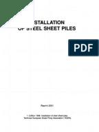 Steel Sheet Piling Design Manual Deep Foundation Pressure