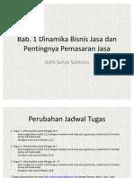 Bab.1 & Bab.2 Pemasaran Jasa