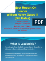 A Project Report on Leader