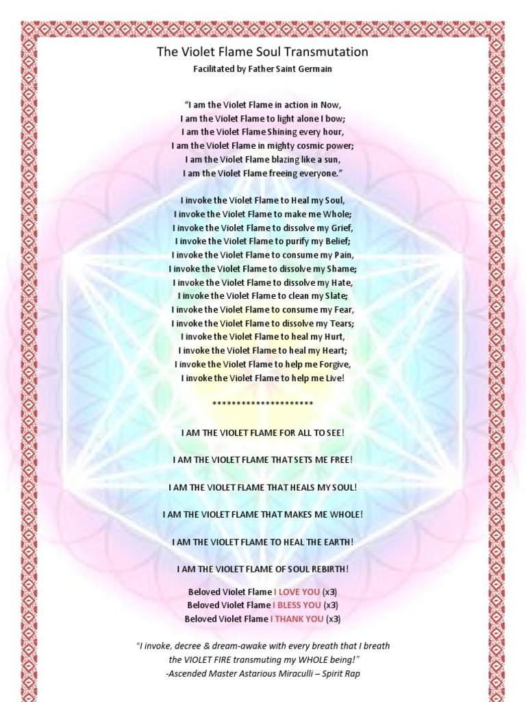 The violet flame soul transmutation ascended master religious faiths buycottarizona Gallery