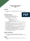 exercício aplicação console rpg