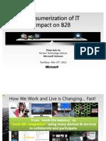 Consumerization of IT Impact on B2B