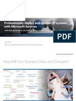 Professionally Deploy and Operate IT Systems With Microsoft Services