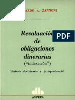 Zannoni Eduardo - Revaluacion de Obligaciones Diner Arias
