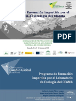 Formación impartida por el Laboratorio de Ecología del Centro Andaluz de Medio Ambiente