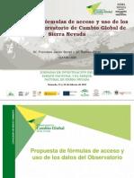 Propuesta de formulas de acceso y uso de los datos del Observatorio de cambio global en Sierra Nevada