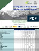 Recopilación de los proyectos de investigación realizados en Sierra Nevada. Régimen de autorizaciones y apoyo logístico.