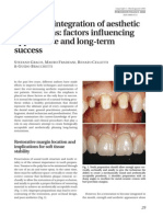 Biological Integration of Aesthetic Restorations Factors In
