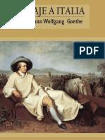 Goethe - Viaje a Italia