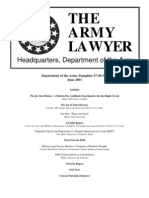6-01 Army Lawyer (Maj Collins) the Qui Tam Relator- A Modern Day Goldilocks Searching for the Just Right Circuit-VG