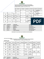 First Year Final Time Table
