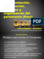 CDG - Constitución representativa de los procesos y organización del Congreso (PERU)