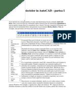 Desenarea Obiectelor in AutoCAD