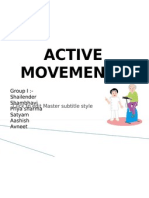 Active Movements
