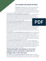 7MARCAS DE UM CORAÇÃO RETO DIANTE DE DEUS