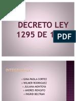 DECRETO LEY 1295 DE 1994