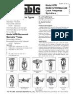 131 Model GFR Recessed Quick Response
