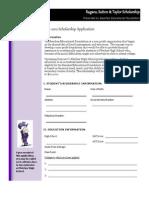 2012 BEF Application