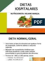 dietas hospitalares