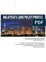 Malaysia Land Policy Profile