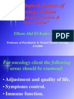 Psychological Aspects of Oncology Patient