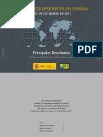 Principales Resultados 31122011 Residentes en España