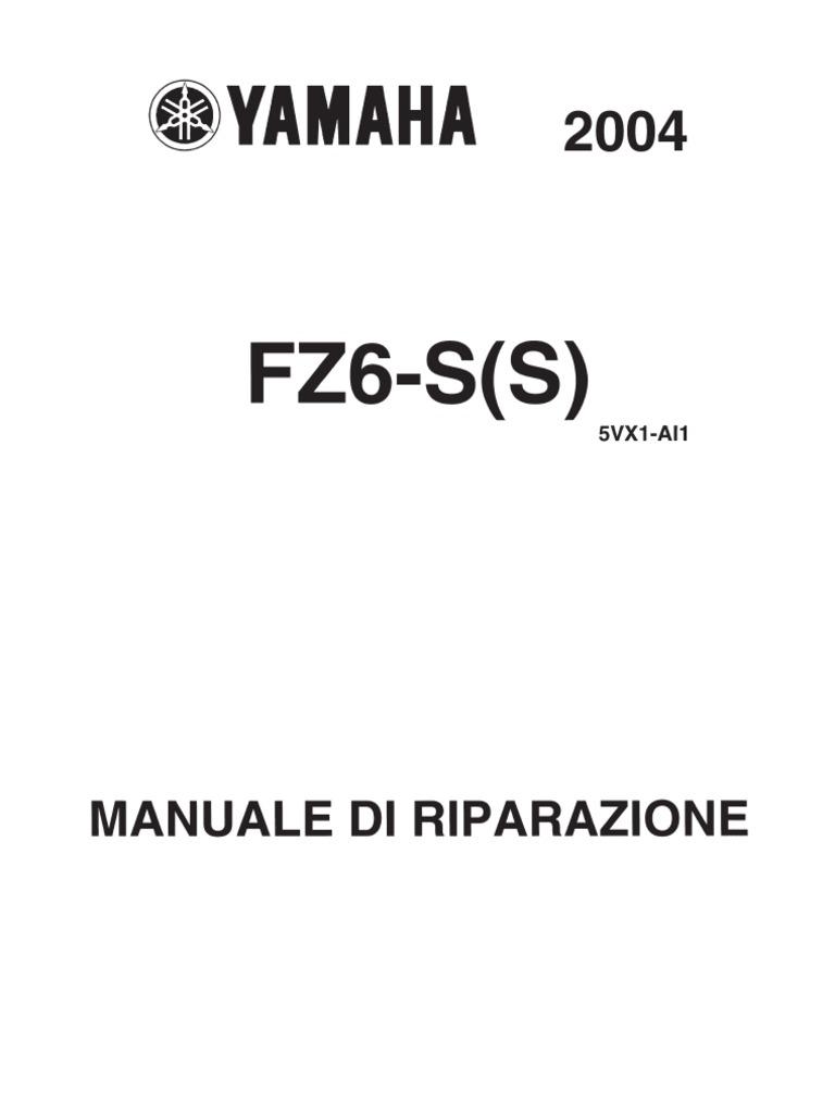 Manuale Officina Yamaha Fz6 Fazer 2004 Ita