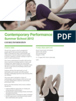 contemporary performance summer school 2012