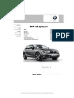 Especificación F20 BMW 116i Sport
