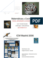 Cocina y Matemáticas