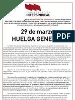 120312 29 Marzo Huelga General