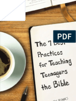 7 Best Practices for Teaching Teenagers the Bible