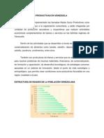 Actividades Socio Productivas en Venezuela