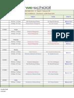 PGDM EBIZ 2011 - 13 Batch I Trimester III - Weekly Time Table