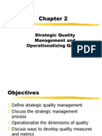Chapter 2 - Strategic Quality Management and Ope Rationalizing Quality