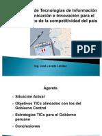 Estrategias TICs Para Gobierno Del Peru JLL 04-03-2012