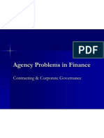 Agency Problems in Finance