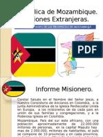 Misiones Extranjeras Republica de Mozambique - Nov 2008