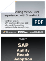 SAP User Experience With Share Point