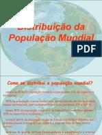Distribuição Da População Mundial