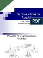 Tecnicas e Tipos de Requisitos
