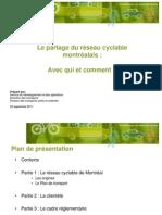 Le partage du réseau cyclable montréalais