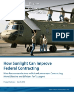 How Sunlight Can Improve Federal Contracting