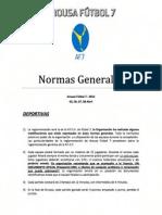 AROUSA FUTBOL 7 2012 (NORMAS DE PARTICIPACIÓN)