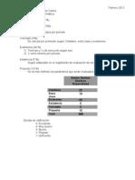 Rubros de calificación 2011