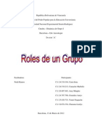 Tipos de Roles de Un Grupo